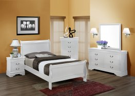 White Louis Philippe Twin Bed