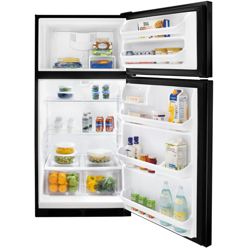 18 CU. FT.FRIGIDAIRE BLACK TOP MOUNT REFRIGERATOR